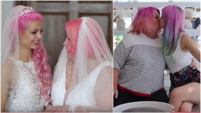 """""""No es mi mamá, es mi esposa"""": dos mujeres se casan aunque se llevan 37 años de edad"""
