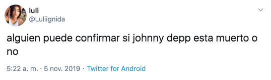 Johnny Depp no murió, es una fake news