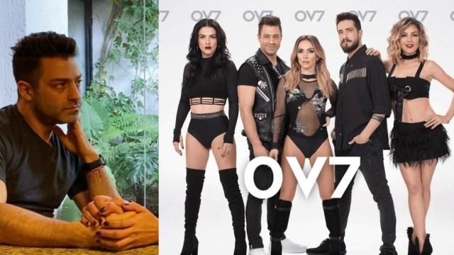 Ari Borovoy y los integrantes de OV7 tras el pleito