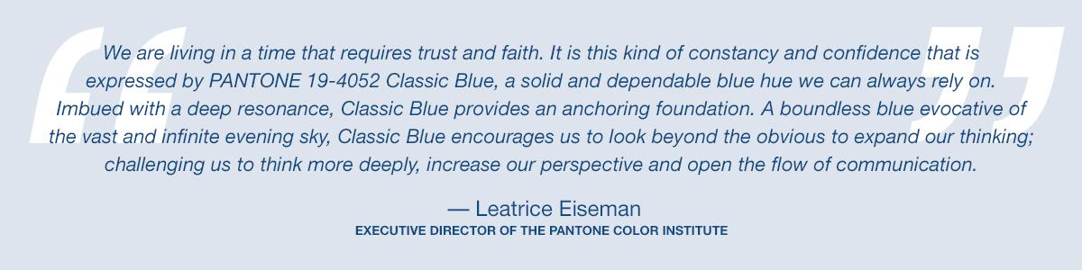 ¿Qué es el Pantone Classic Blue y porqué será color de 2020?