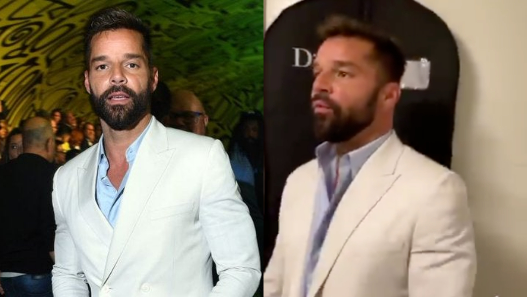 Ricky Martin presume su pack en gala de Dior (video)