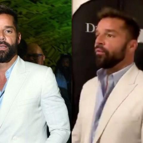 Ricky Martin presume su pack en gala de Dior (video)
