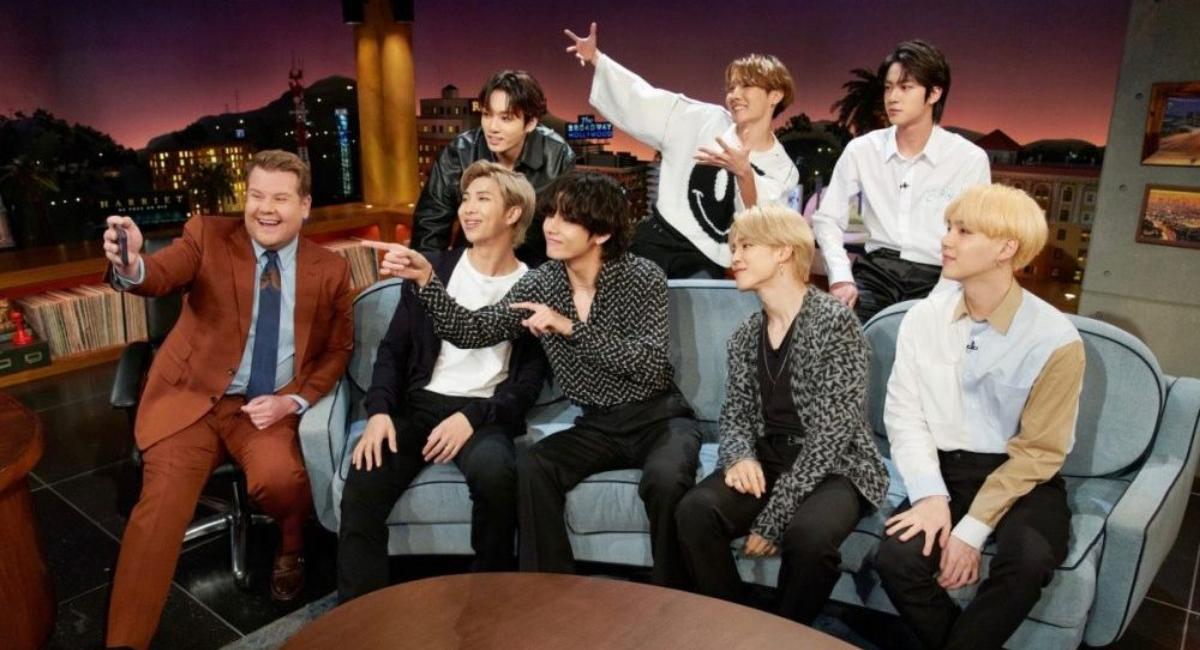 BTS presenta Black Swan en The Late Show de James Corden