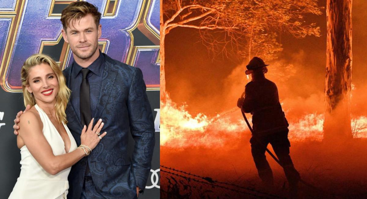Chris Hemsworth y Elsa Pataky contra incendios en Australia