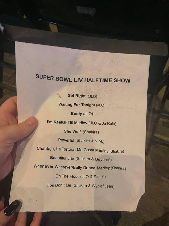 Filtran set list de Shakira y Jennifer Lopez en el Super Bowl