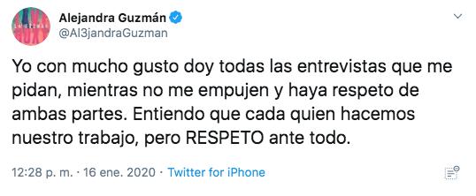 Alejandra Guzmán se pelea con reporteros