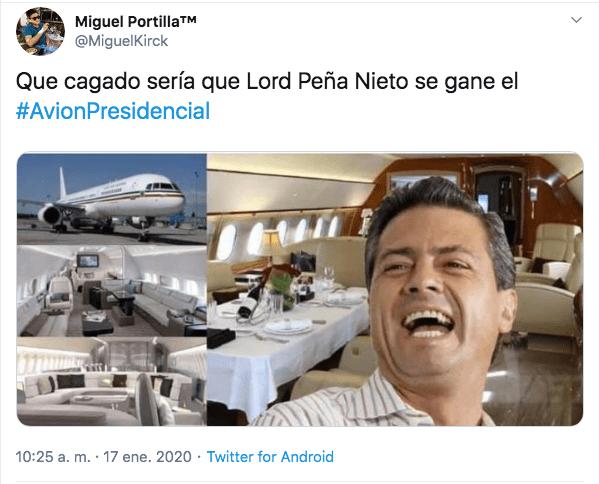 Memes avion presidencial rifa de amlo