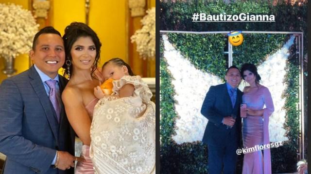 El bautizo de la hija de Edwin Luna y Kimberly Flores