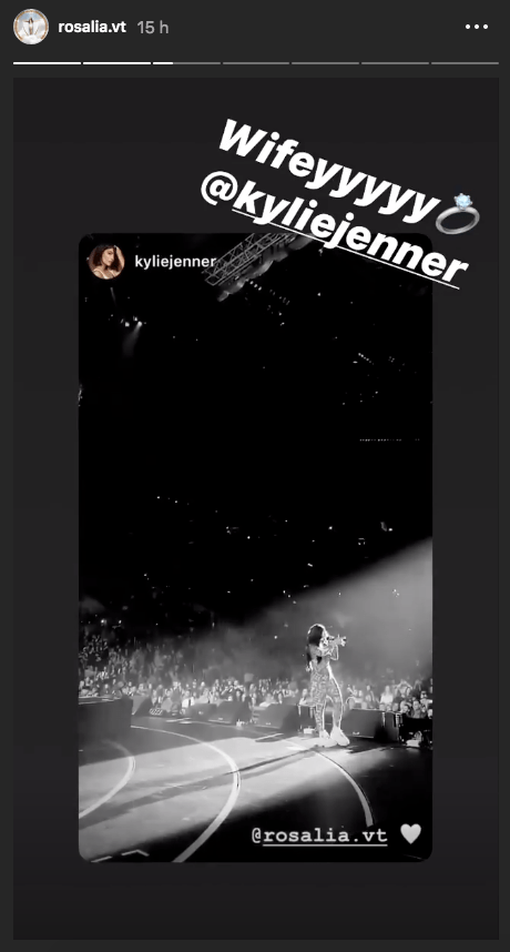 Kylie Jenner y Rosalía se casaron
