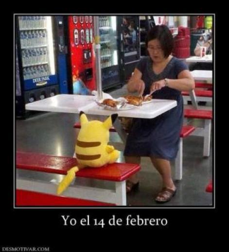 memes 14 de febrero pikachu