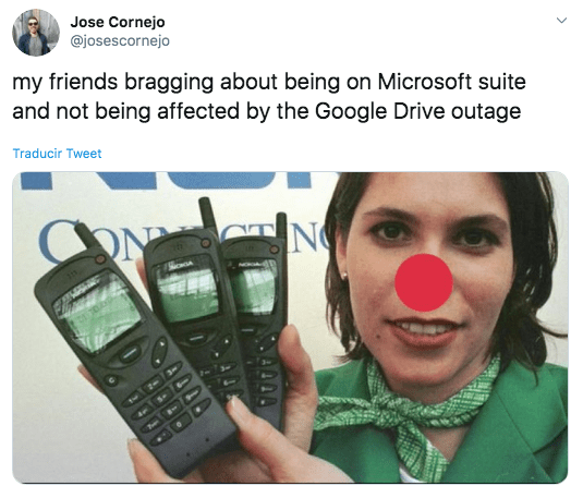 Memes de la caída de Google Drive a nivel global 27 de enero de 2020