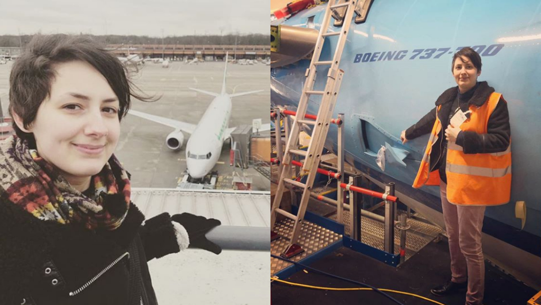 Mujer quiere casarse con avión con el que lleva 6 años