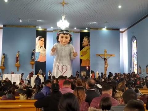 Ropa del Niño Dios gigante de Zacatecas costó 300 mil pesos