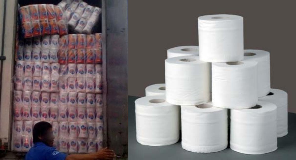 Comando armado roba cargamentos de papel de baño en China