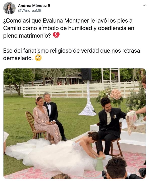 Boda de Evaluna Montaner y Camilo