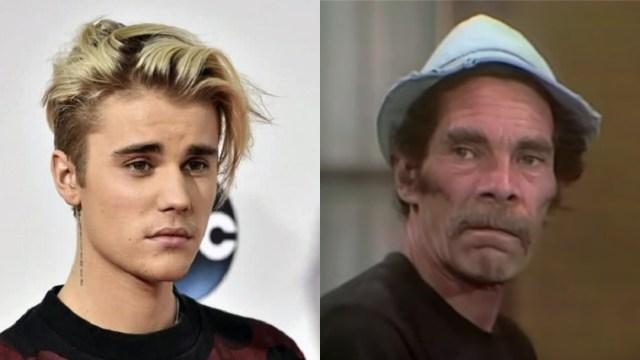 Justin Bieber es comparado con Don Ramón en foto memes