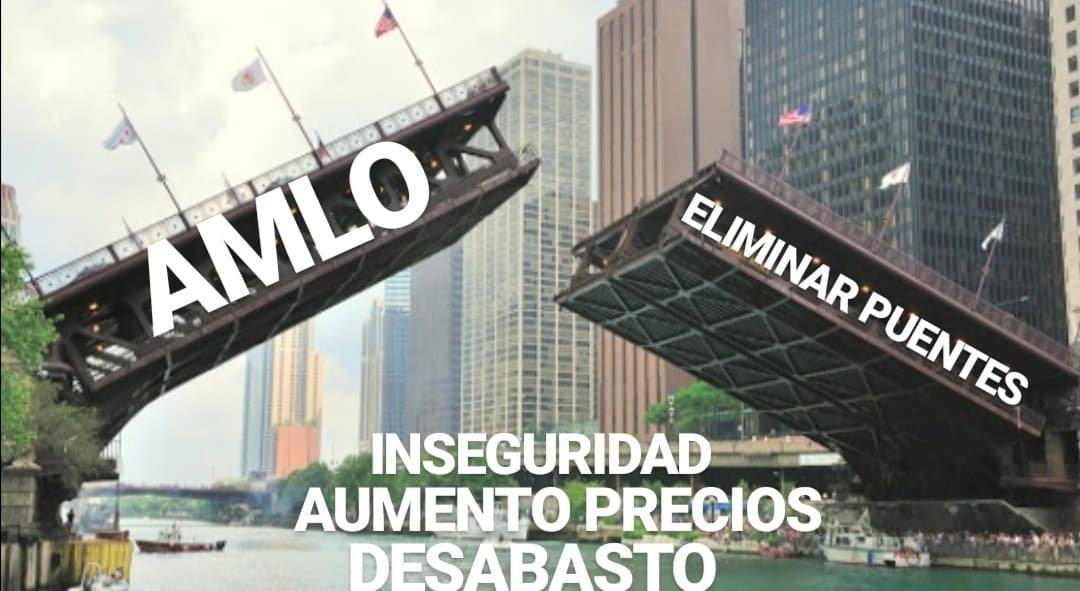 Memes con los puentes no por iniciativa de AMLO
