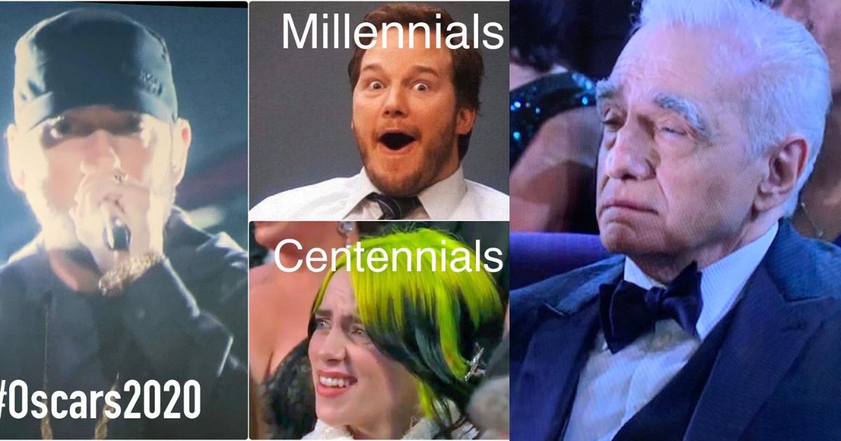 Memes de Eminem cantando Lose Yourself en Premios Oscar 2020