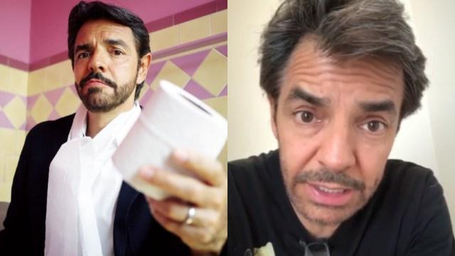 Eugenio Derbez es criticado por broma sobre papel de baño
