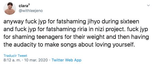 J. Y. Park es criticado por sus comentarios sobre el peso de concursante de NIZI