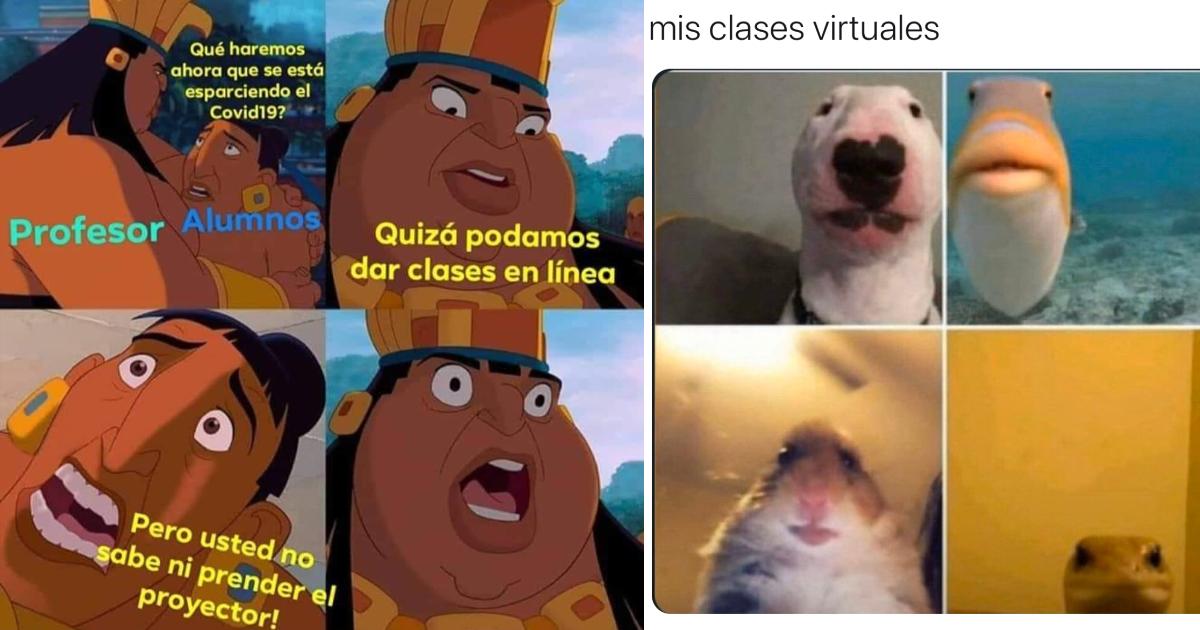 Memes de clases virtuales por Coronavirus en la cuarentena