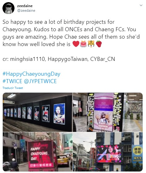 Chaeyoung de TWICE celebra cumpleaños con amor de ONCE