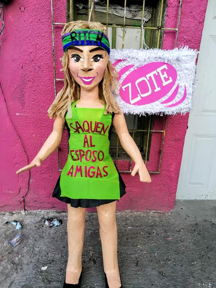 Esposo de Karla Panini amenaza tienda de piñatas