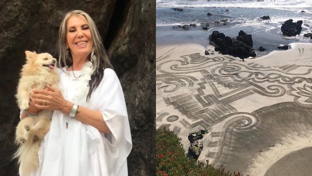 Lila Deneken impacta con señales misteriosas en playa