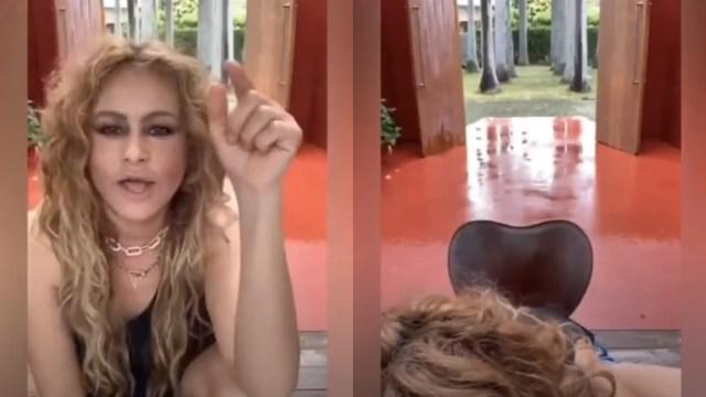 Paulina Rubio drogada manda saludos a Thalía en video viral
