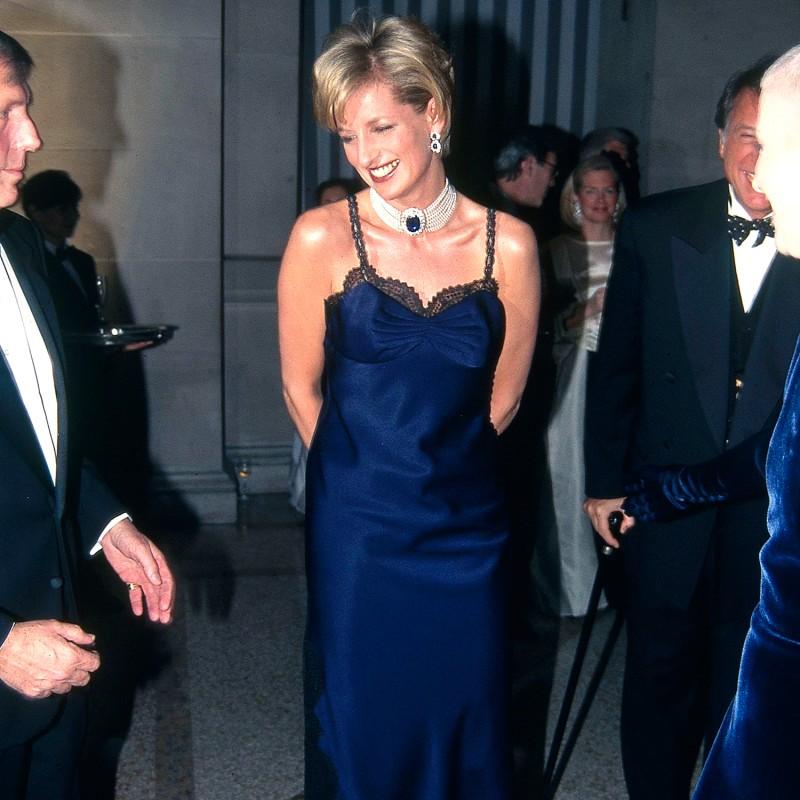 El vestido de Lady Di en el Met Gala de 1996