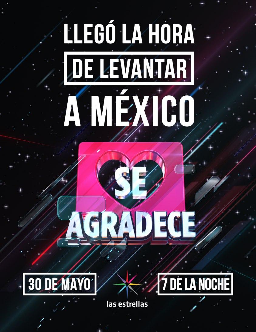 Televisa lanza el concierto Se Agradece el próximo 30 de mayo