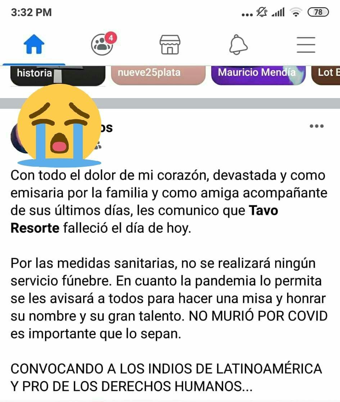Confirman muerte de Gustavo Tavo Limongi, voz de Resorte