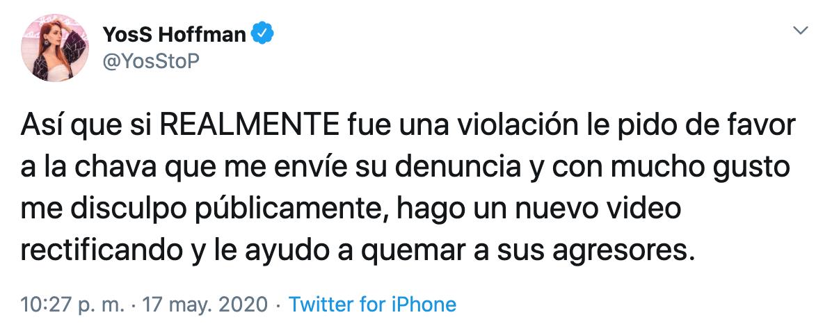 Cancelan a YosStop por reírse de una menor de edad que fue violada