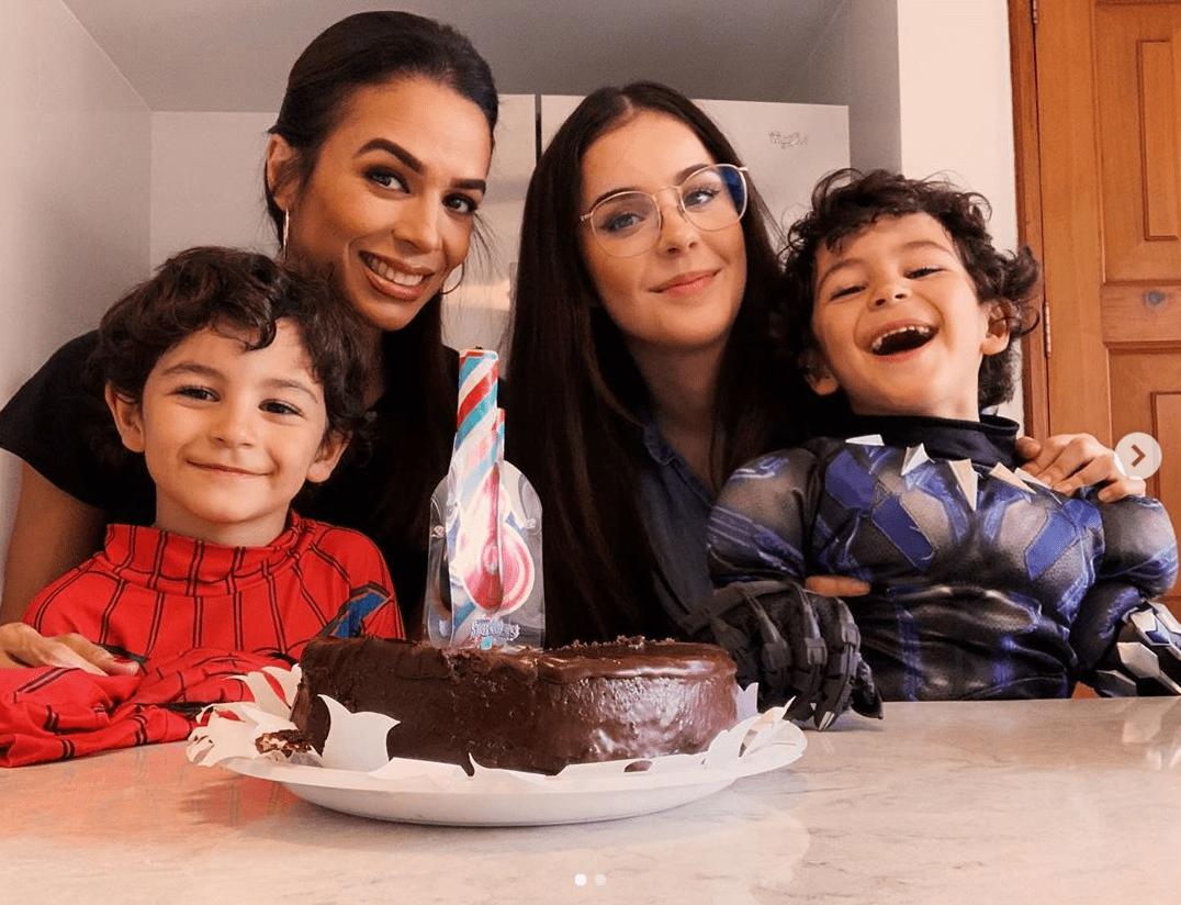 Así festejaron Biby Gaytán y Eduardo Capetillo el cumpleaños de sus gemelos