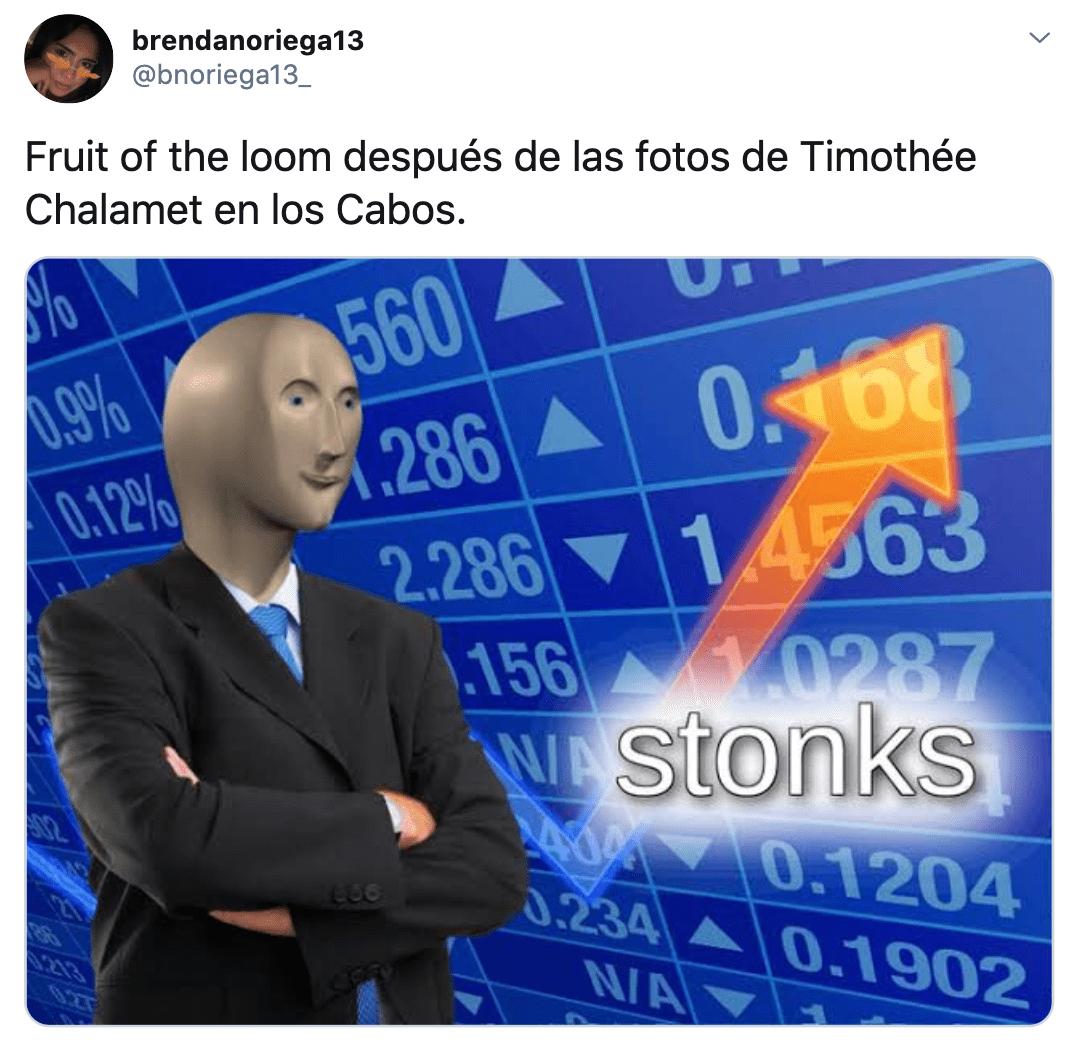 Memes de Eiza González y Timothée Chalamet