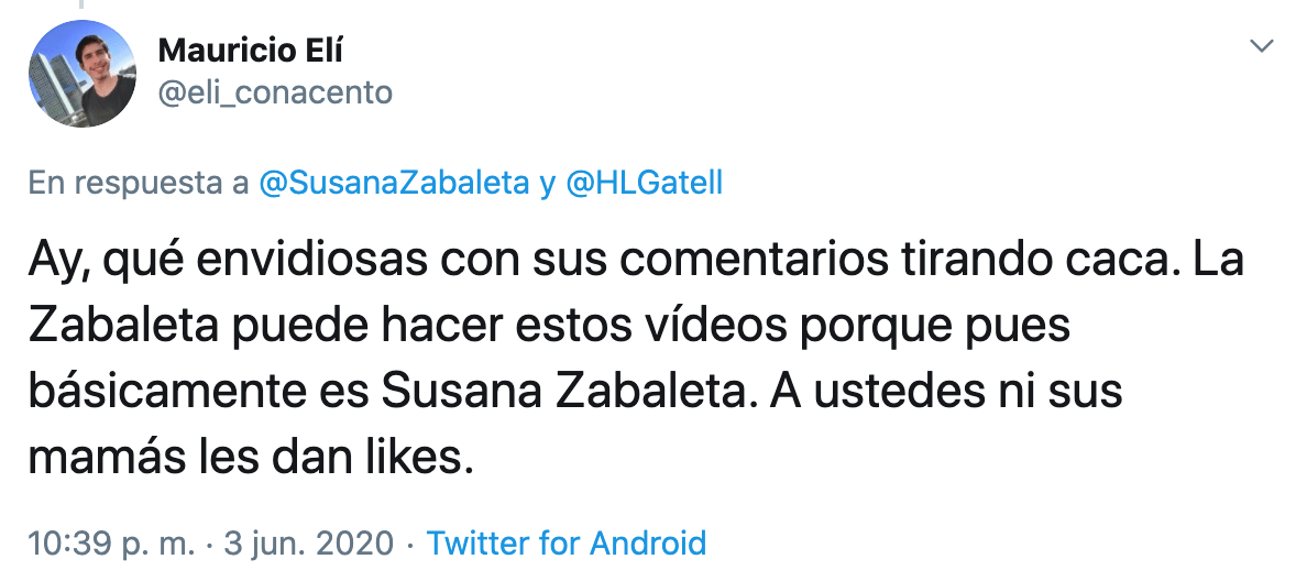 Susana Zabaleta manda video a Lopez Gatell