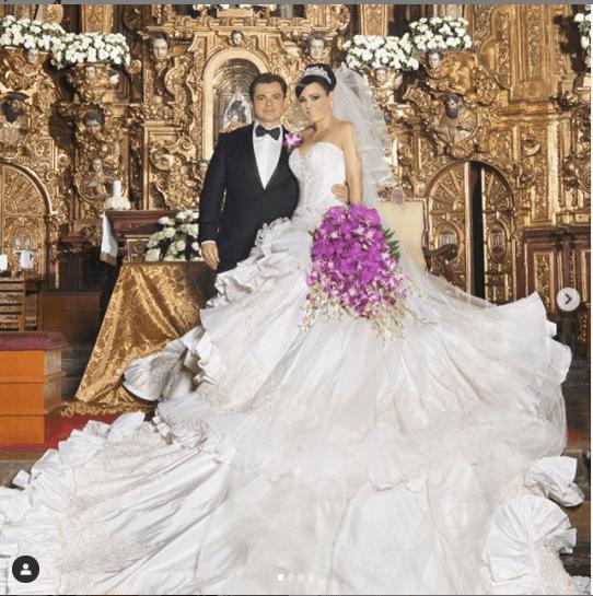 Maribel Guardia festeja su aniversario de bodas con impactantes fotos del gran día