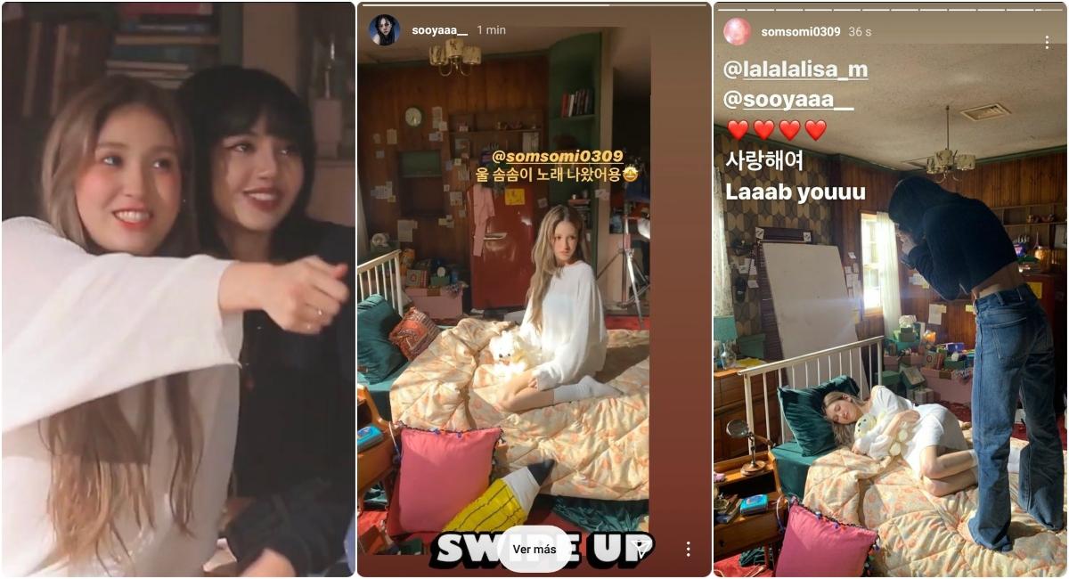 Somi revela apoyo de Lisa y Jisoo de BLACKPINK en comeback