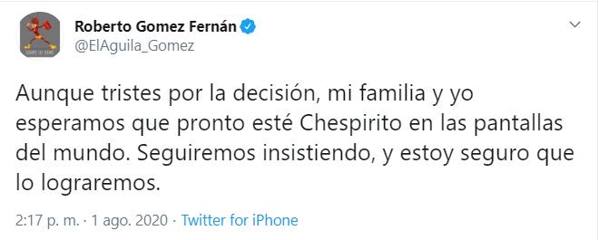 Chespirito sale de la televisión en todo el mundo este 2020