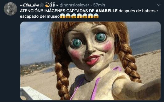 Anabelle se escapa del museo de los Warren: Memes