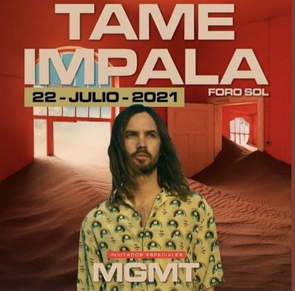 Anuncio concierto Tame Impala Foro Sol