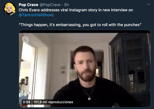 Chris Evans responde a la filtración de su pack y acepta que es suyo