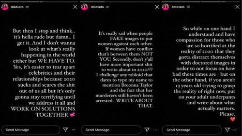 Demi Lovato tuits Selena Gomez