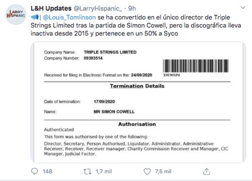 Simon Cowell documento disquera syco