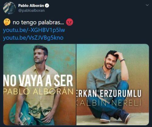 Pablo Alborán expone al cantante turco Erkan Erzurumlu por plagio