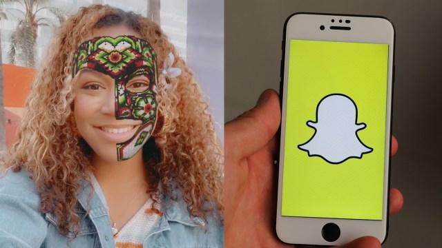 Snapchat Filtro Máscara Huichol