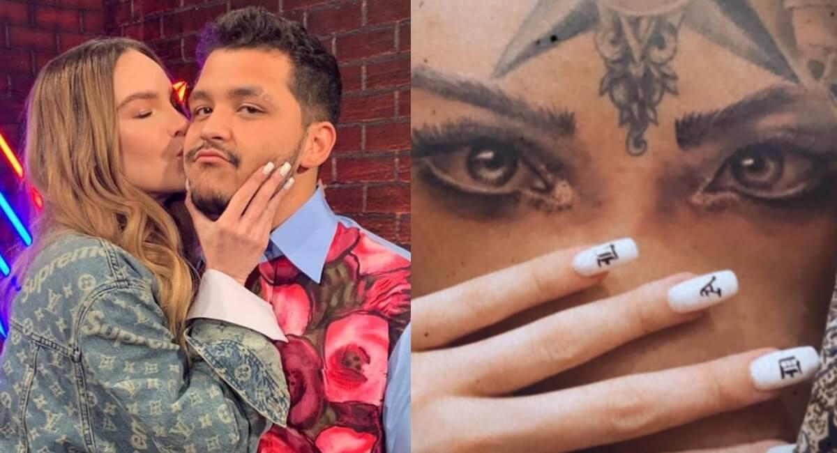 Christian Nodal se hace tatuaje del nombre y ojos de Belinda