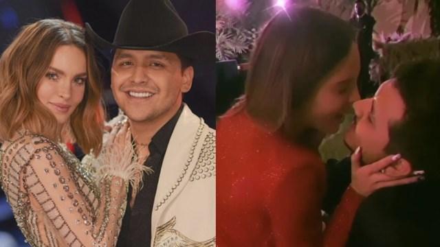 Belinda y Nodal celebran 4 meses de novios con fiesta romántica y regalos
