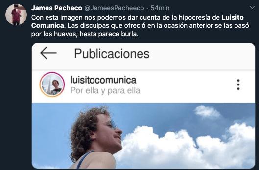 Destrozan a Luisito Comunica por publicar foto con su novia y el mezcal
