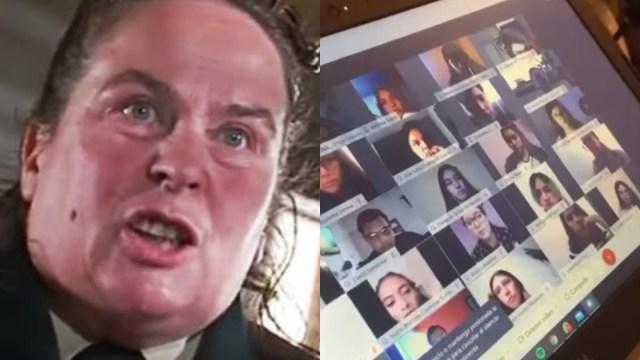 Maestra es suspendida por maltratar a sus alumnos en videollamada